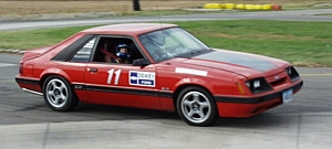 1985 Mustang GT autocrossing